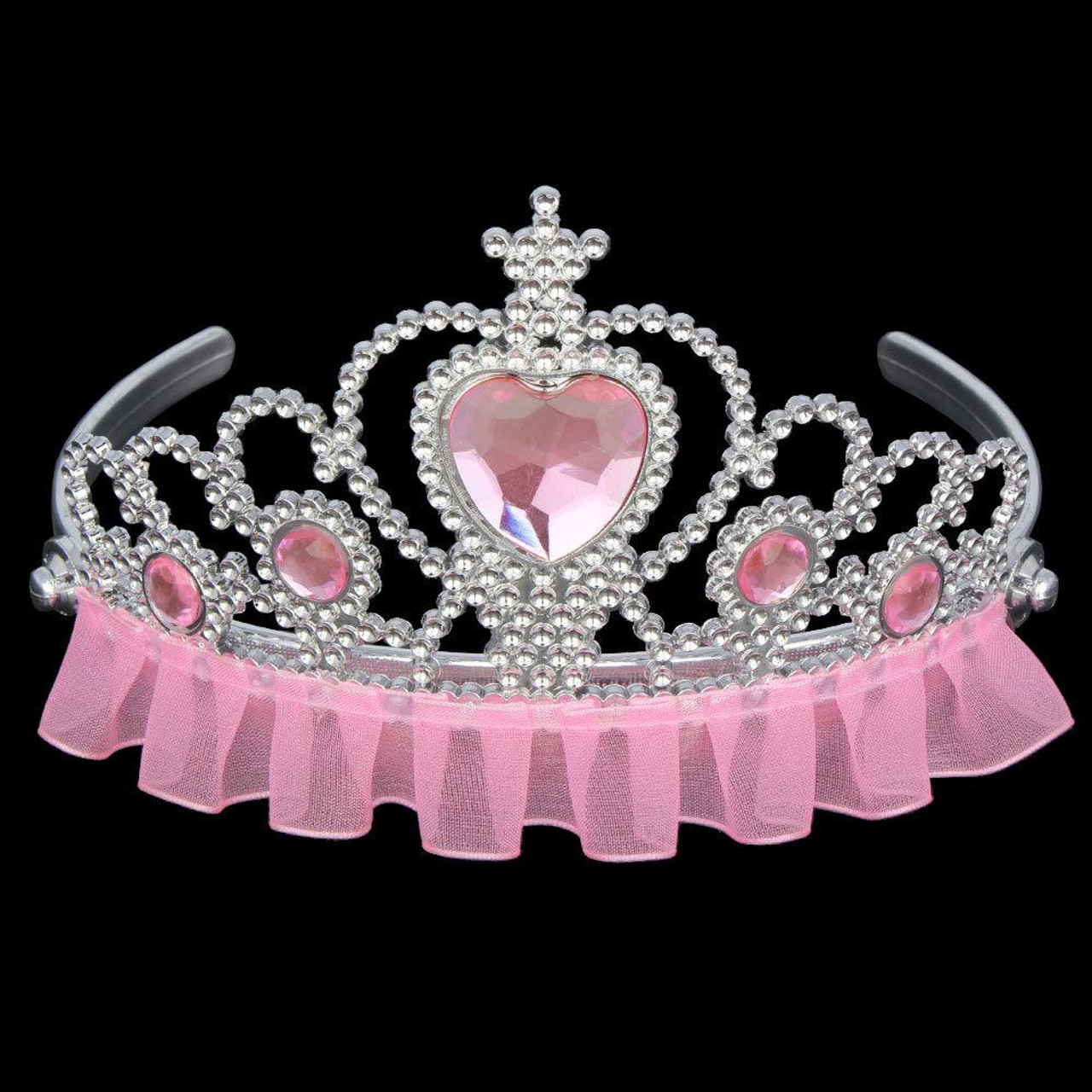 Pink princess tiara