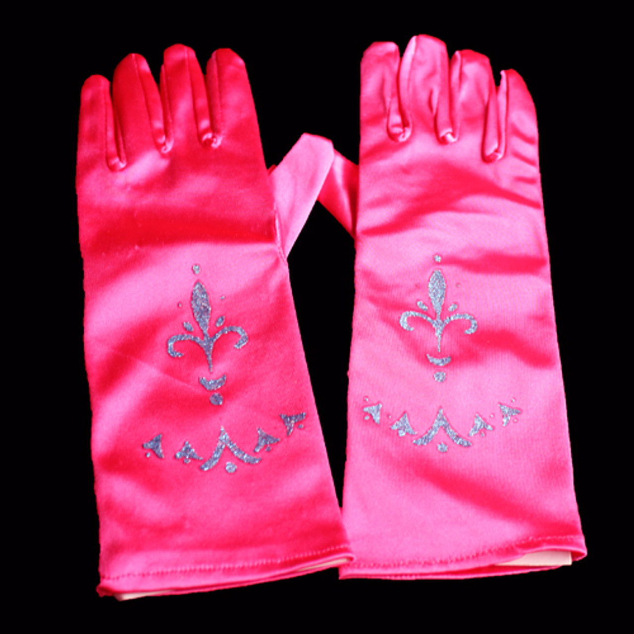 Hot pink princess gloves