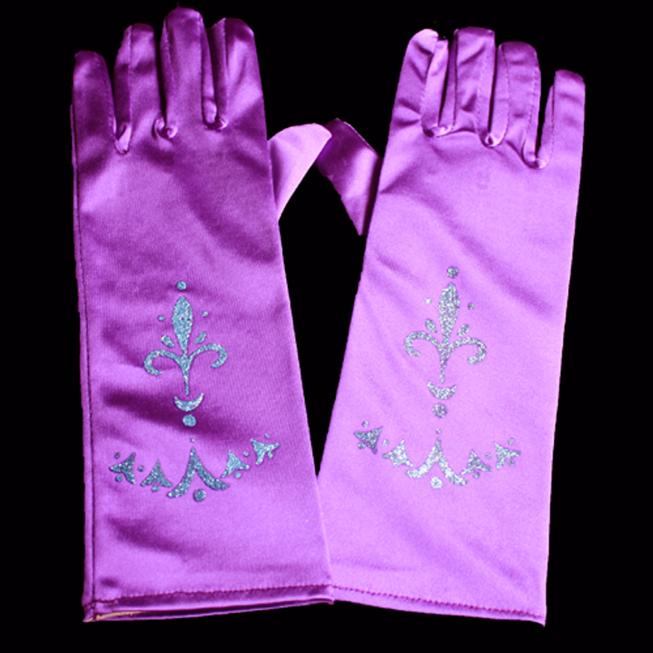 Purple princess gloves