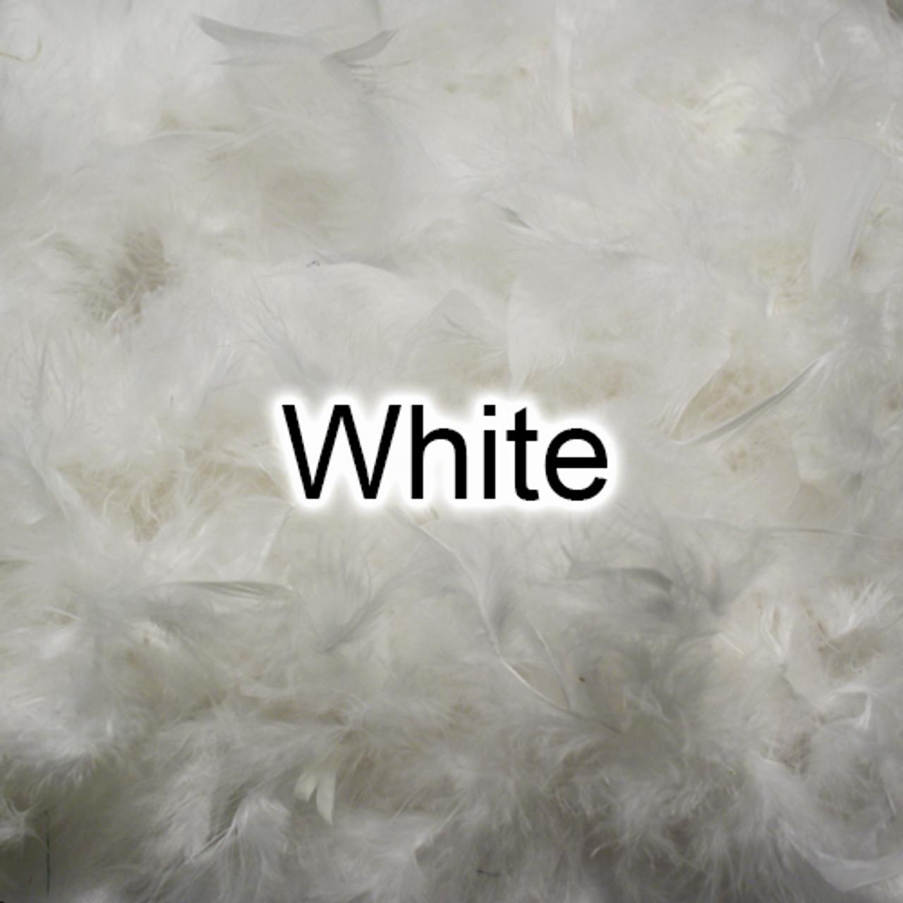 White feather boas