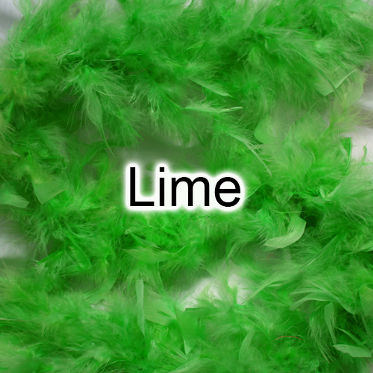Lime feather boas