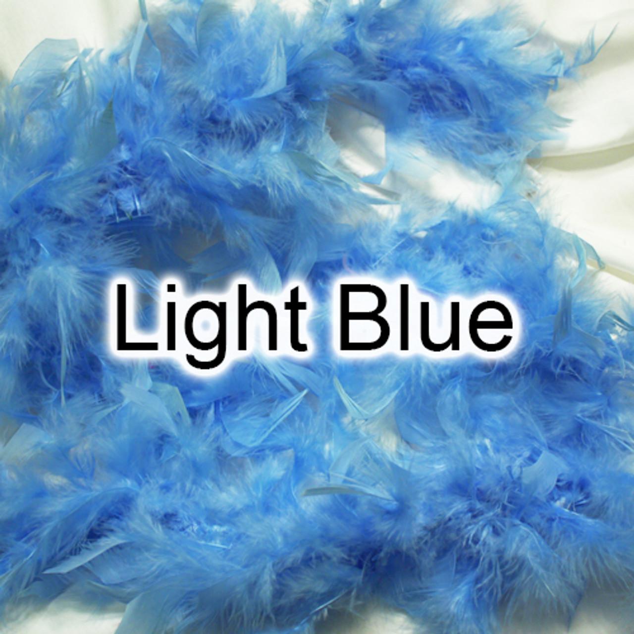 Light blue feather boas