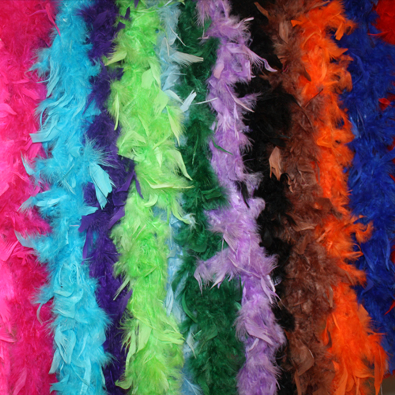 Adult chandelle feather boas