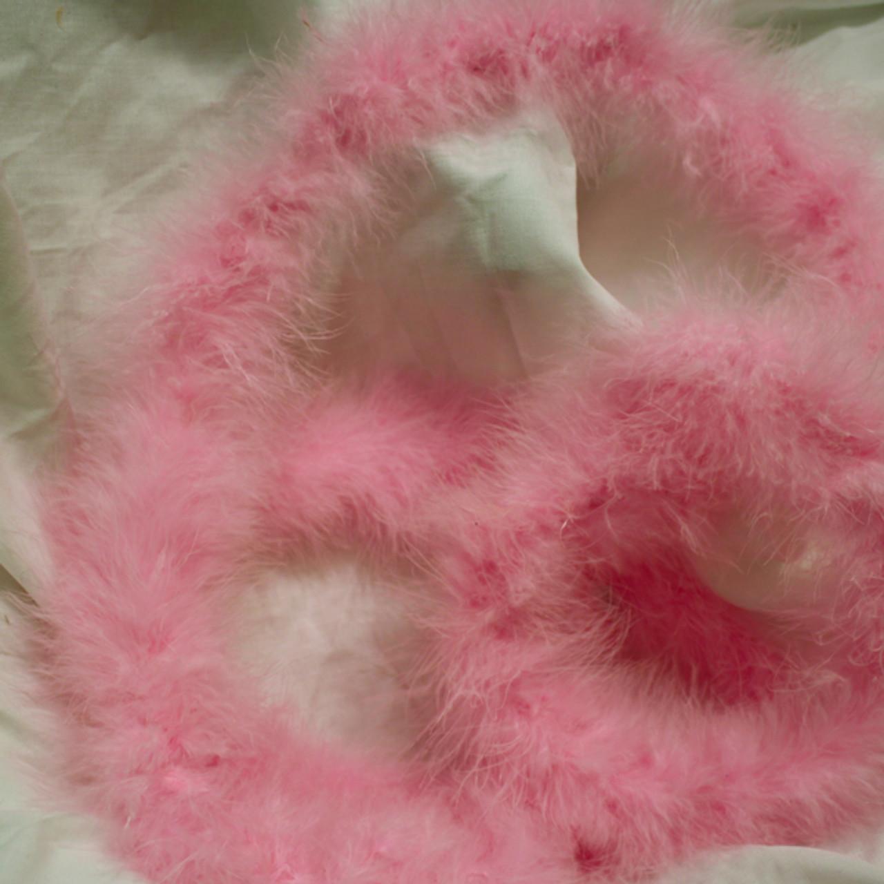 Light pink marabou feather boas