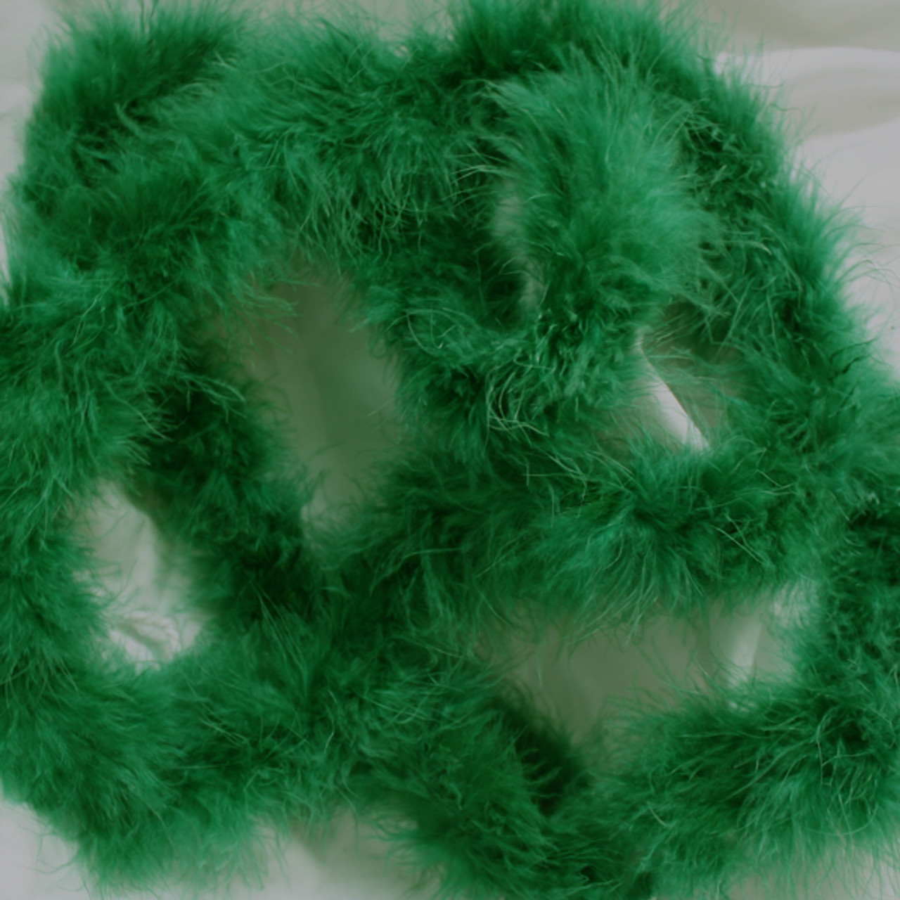 Green marabou feather boas