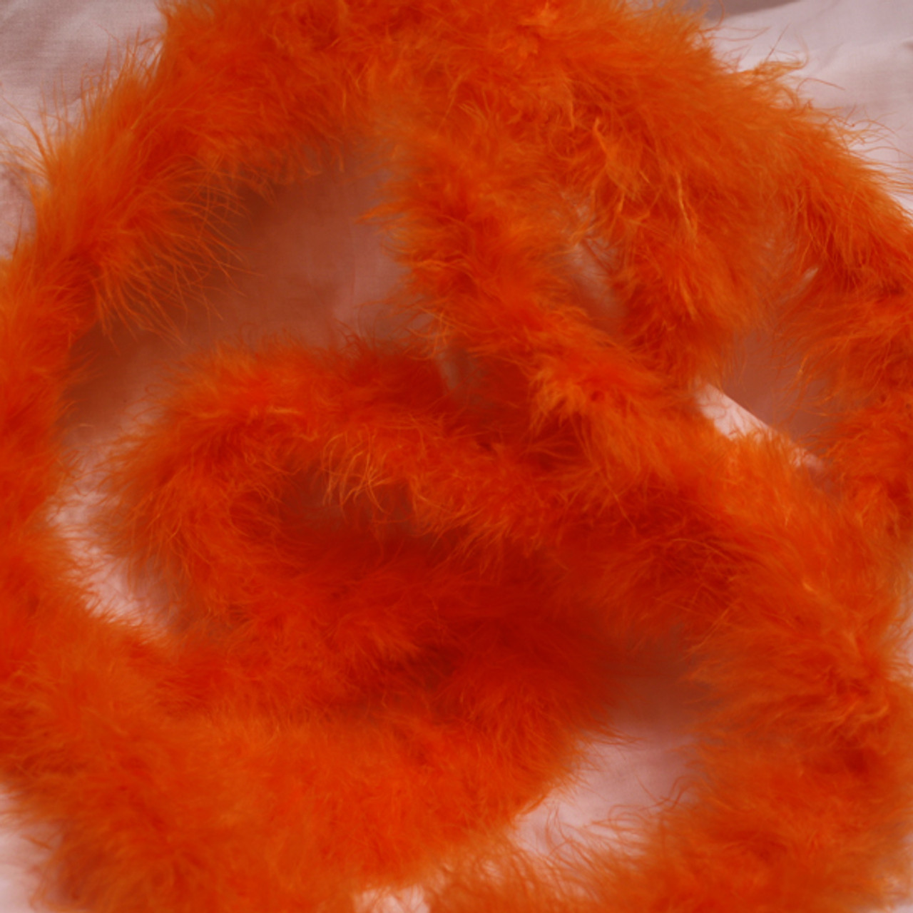 Orange marabou feather boas