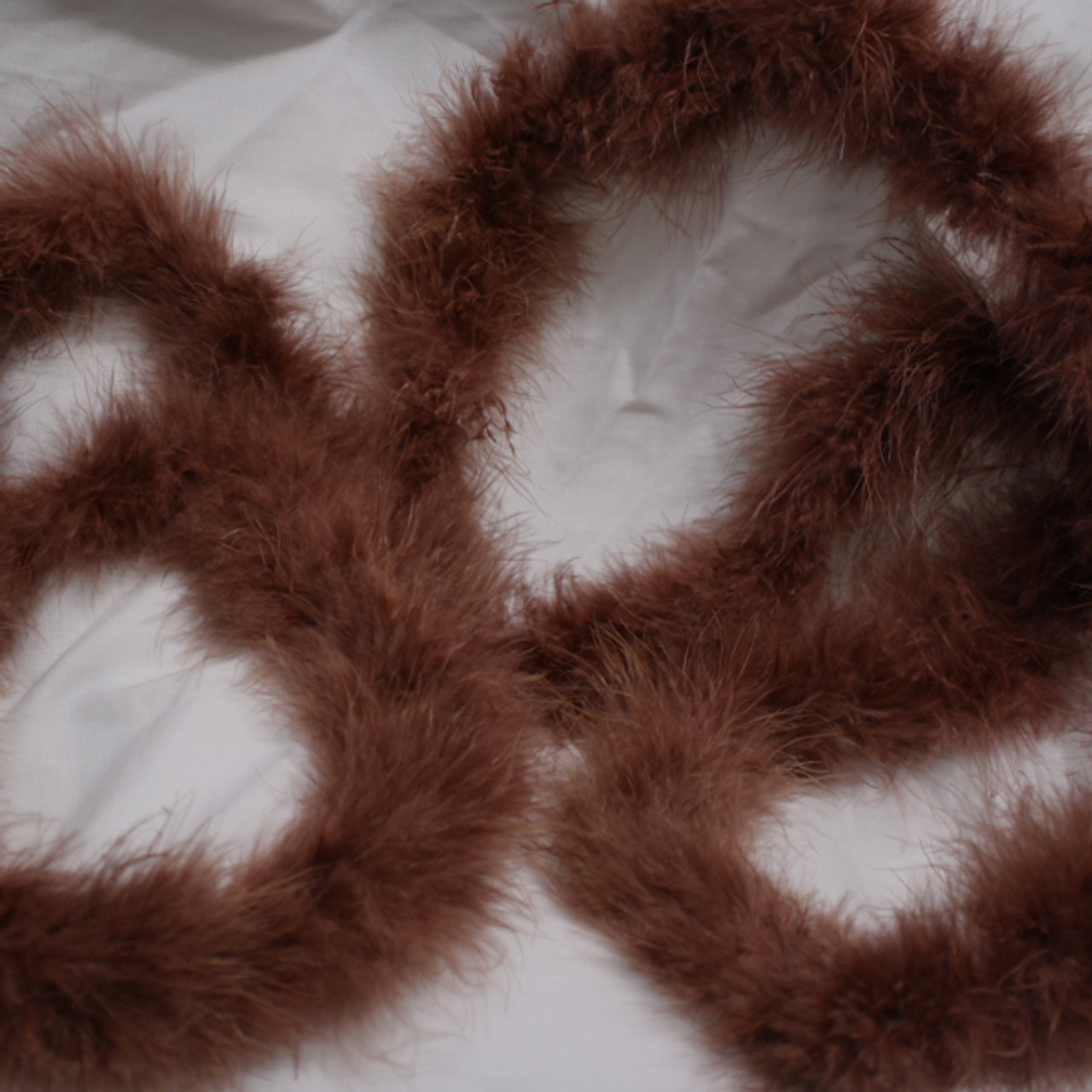 Brown marabou feather boas