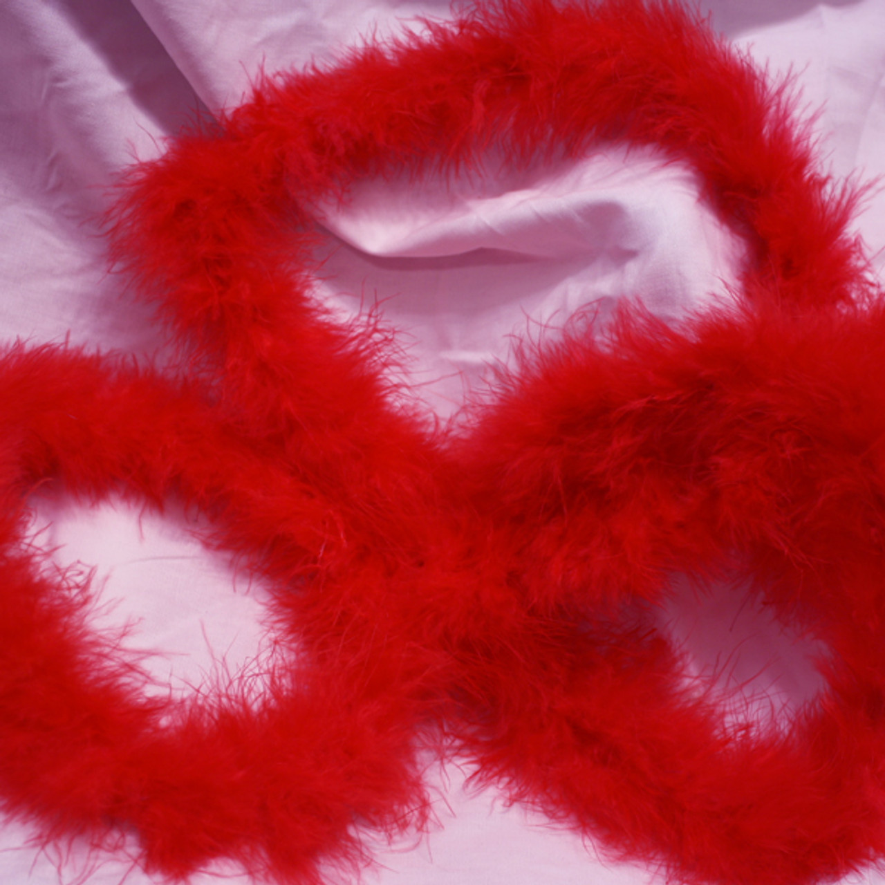 Red marabou feather boas