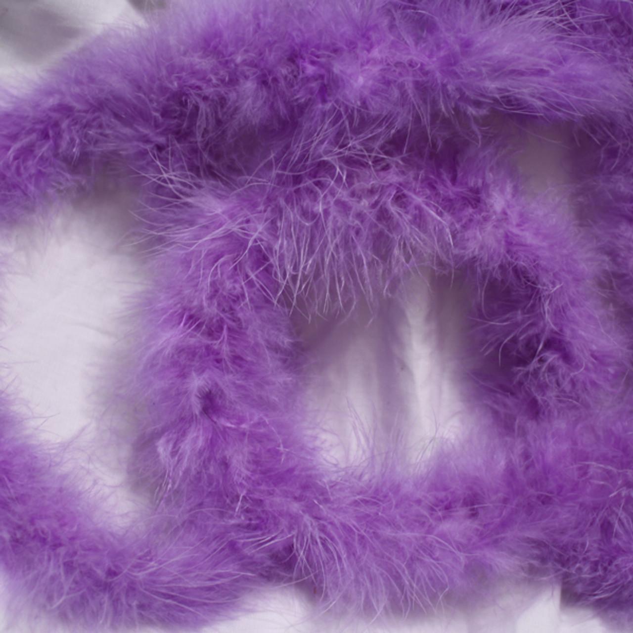 Lavender marabou feather boas