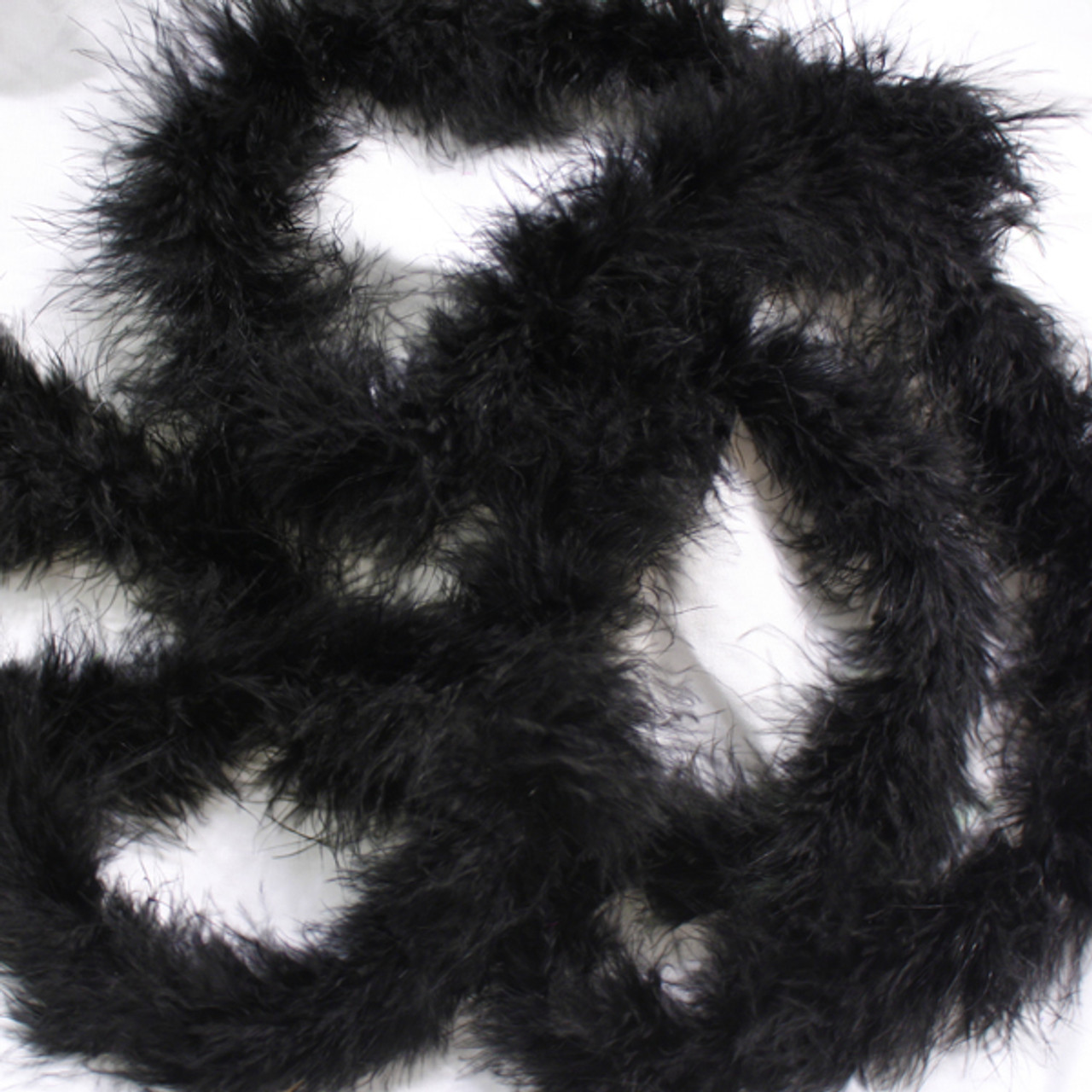 Black marabou feather boas