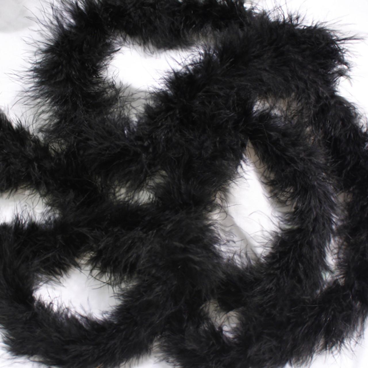Black marabou feather boas