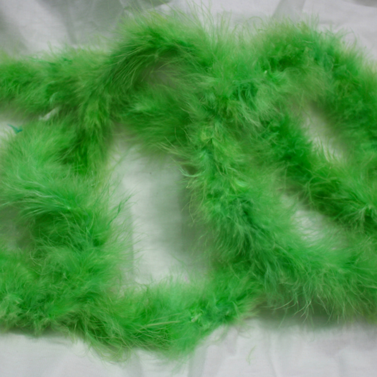 Lime marabou feather boas