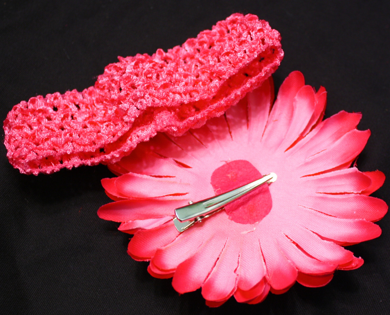 Gerbera daisy on alligator hair clip