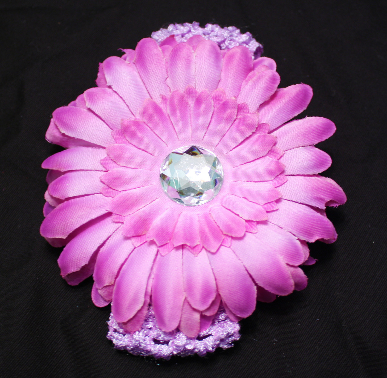 Lavender Gerbera daisy flower crochet headband