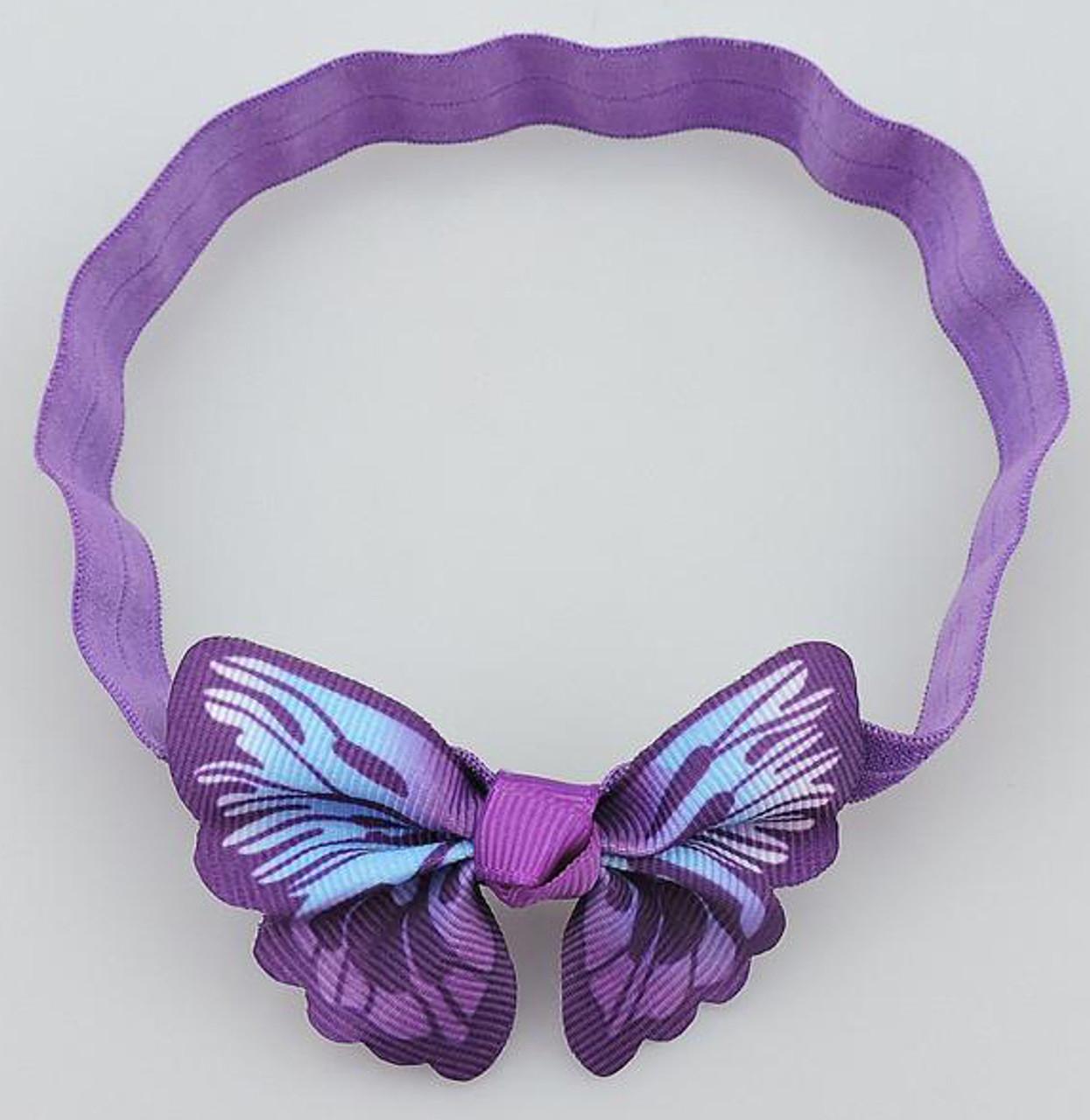 Lavender butterfly headbands