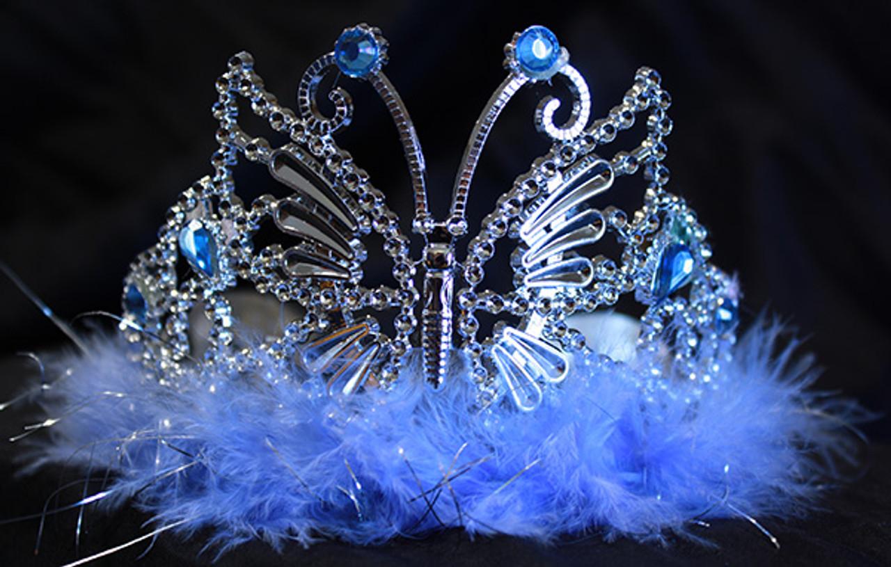 Light blue butterfly tiara