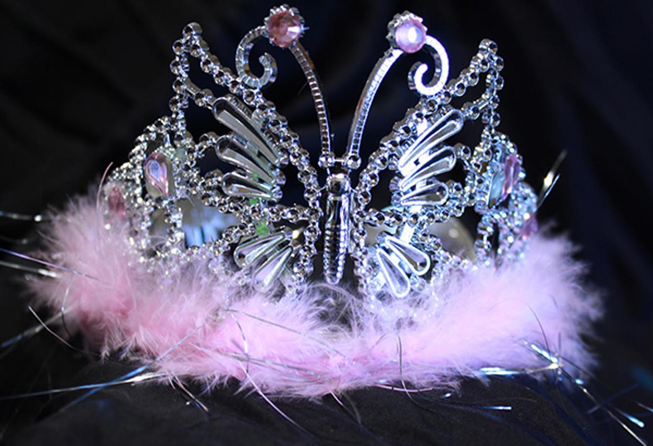 Pink butterfly tiara