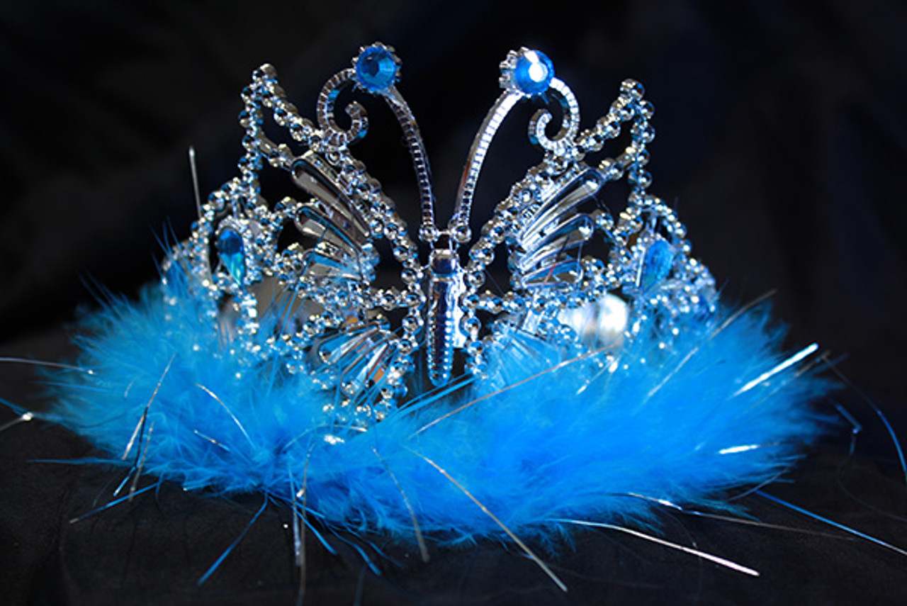 Turquoise butterfly tiara