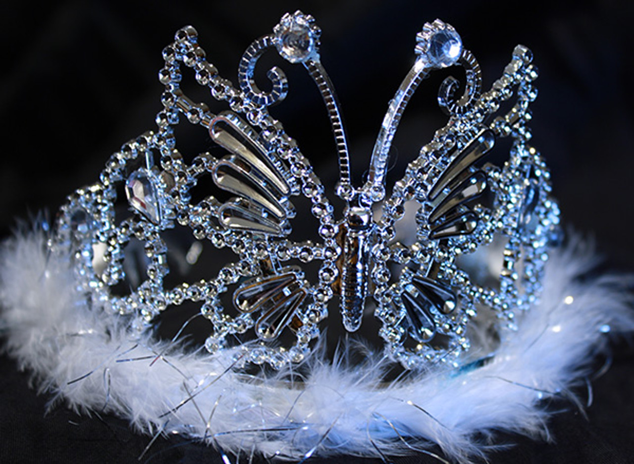 White butterfly tiara