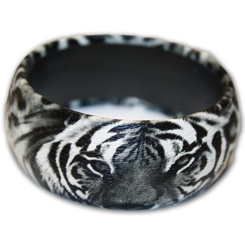 Black animal print bracelet.