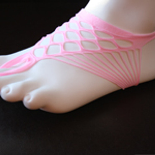 Pink cloth barefoot sandal.