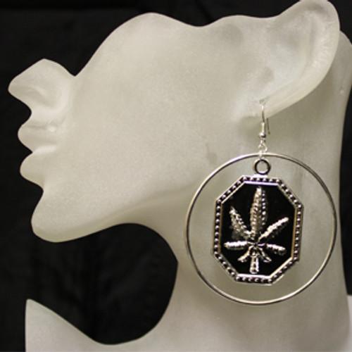 Cheap pot leaf earrings