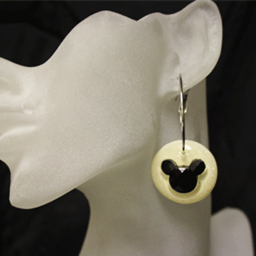 Black and white mouse earrings