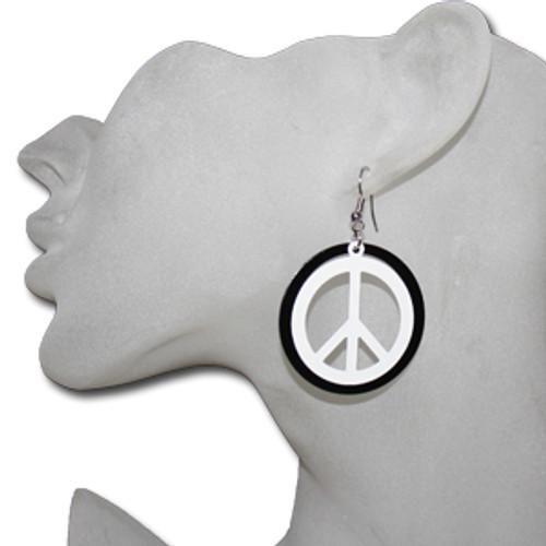 Wholesale peace sign earrings