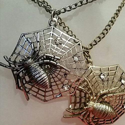 Spider web necklaces
