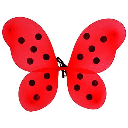 Red polka dot lady bug wings