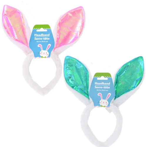 Cheap wholesale prices on teal and pink  bunny rabbit ears for Easter.