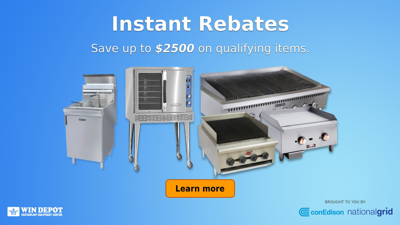 Instant rebates on select gas equipment. Click the button to learn more.