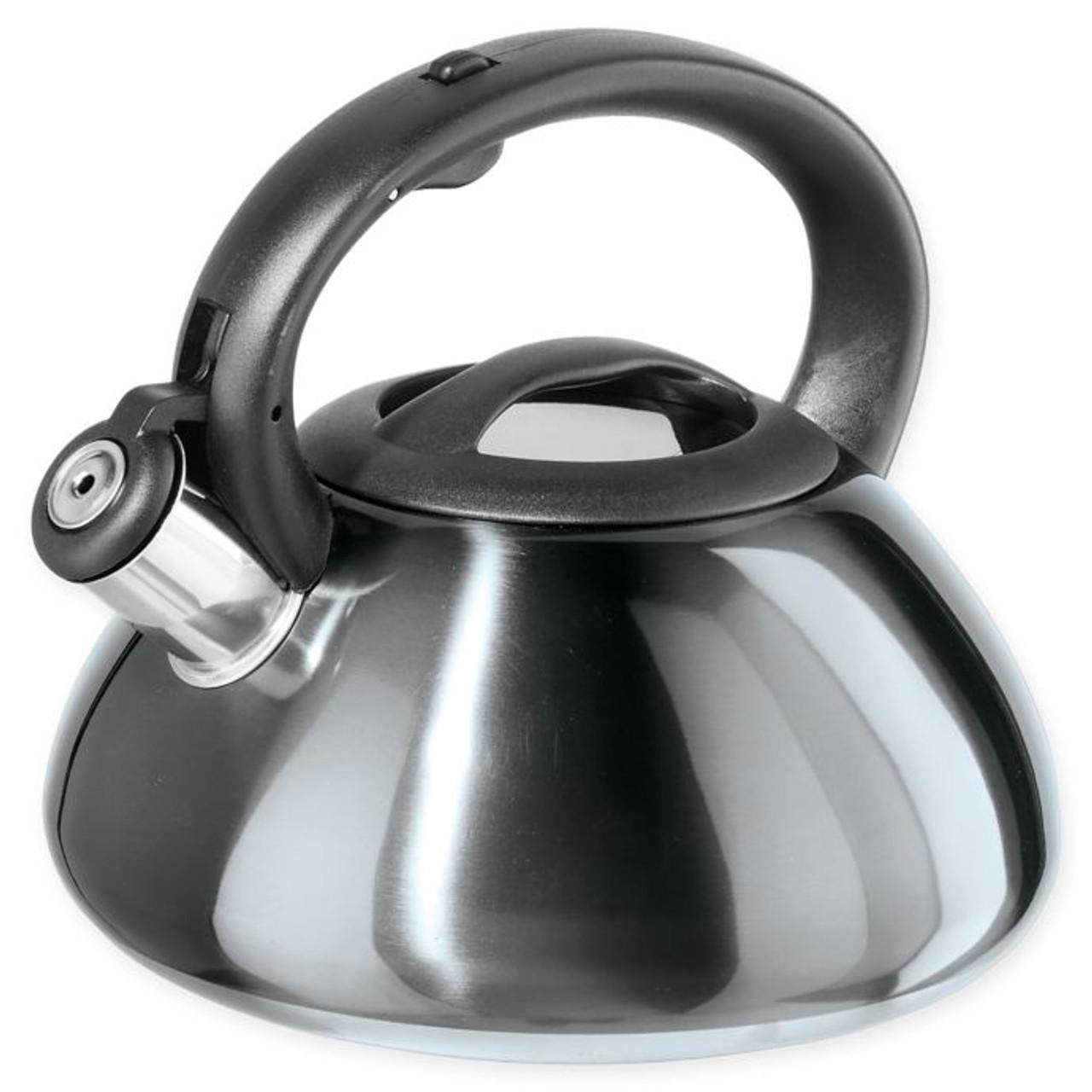 Oggi 7592 10 Stainless Steel Whistling Kettle 85 Oz Grey Win Depot