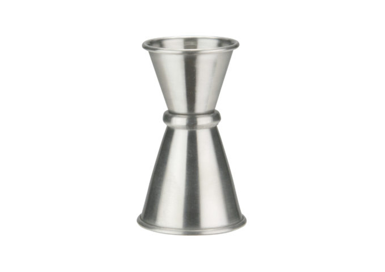 1//2 Oz x 1 Oz Stainless Steel Japanese-Style Jigger Winco J-7