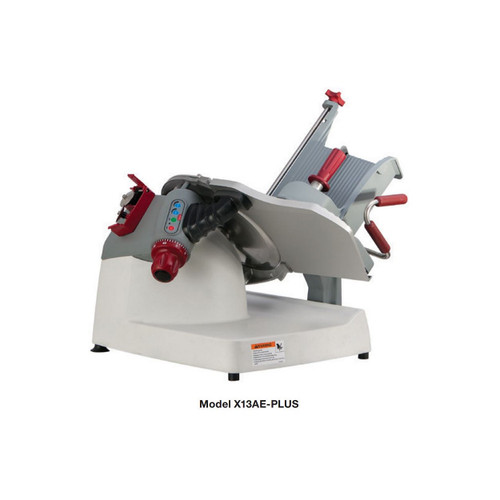 Berkel X13AE-PLUS Automatic Gravity Feed Slicer with 3 Stroke Lengths and 3 Stroke Speeds