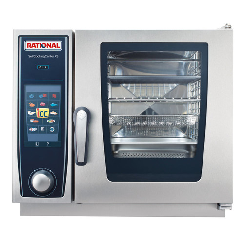 Rational B608106.12 SelfCookingCenter Model XS 4-Pan Single Electric Combi Oven - 208/240V, 3-Phase