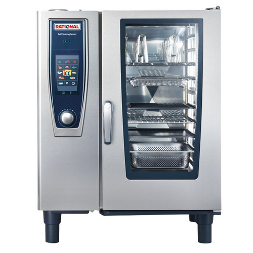 Rational B118206.27E SelfCookingCenter Model 101 10-Pan Natural Gas Single Combi Oven - 120V, 83,500 BTU