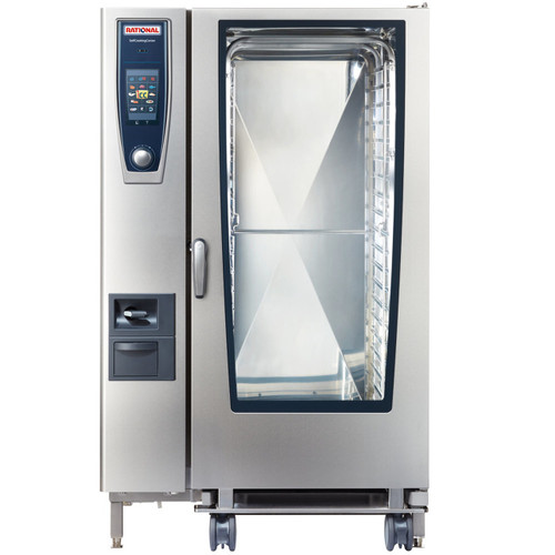 Rational B228206.19E SelfCookingCenter Model 202 20-Pan Natural Gas Single Combi Oven - 208/240V, 340,000 BTU