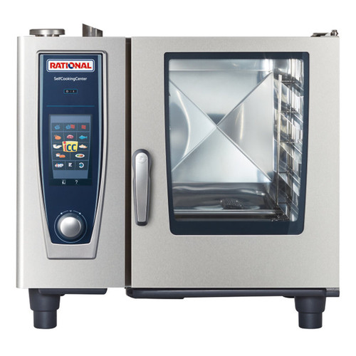 Rational B618206.27E SelfCookingCenter XS Model 61 6-Pan Natural Gas Single Combi Oven - 120V, 49,000 BTU