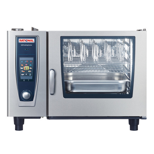 Rational B628206.19E SelfCookingCenter Model 62 6-Pan Natural Gas Single Combi Oven - 208/240V, 106,000 BTU