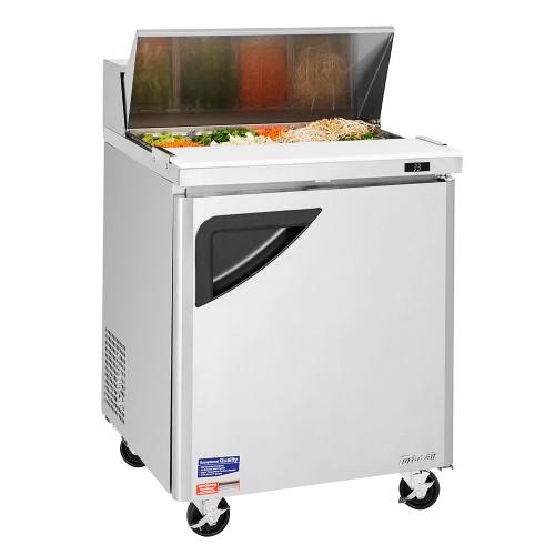 Turbo Air TST-28SD-N Super Deluxe Sandwich/Salad Prep Table - 1 Solid Door