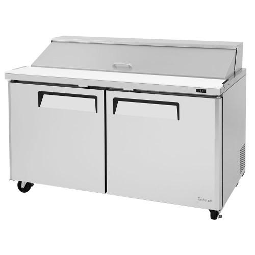 """Turbo Air MST-60-N M3 Series 60"""" Sandwich/Salad Prep Table - 2 Solid Doors"""