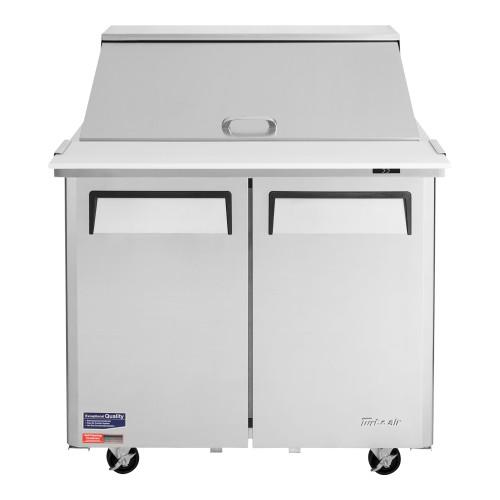 """Turbo Air MST-36-15-N6 M3 Series 36"""" Mega Top Sandwich Salad Prep Table - 2 Solid Doors"""