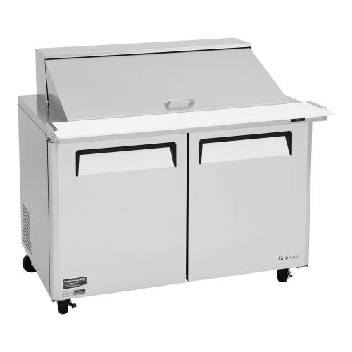 """Turbo Air MST-48-18-N M3 Series 48"""" Mega Top Sandwich Salad Prep Table - 2 Solid Doors"""