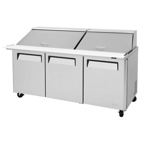"""Turbo Air MST-72-30-N M3 Series 72"""" Mega Top Sandwich Salad Prep Table - 3 Solid Doors"""