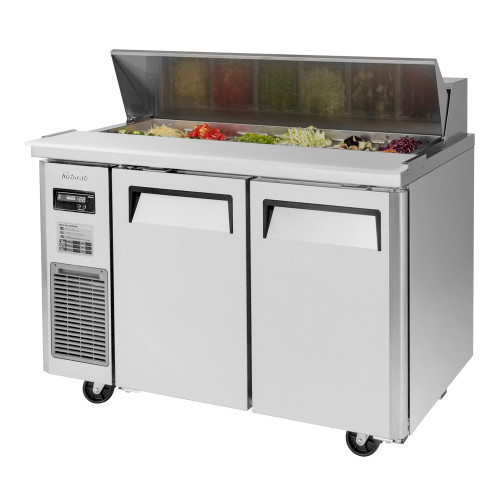 Turbo Air JST-48-N J Series Sandwich/Salad Prep Table, Side Mount, 2 Solid Doors