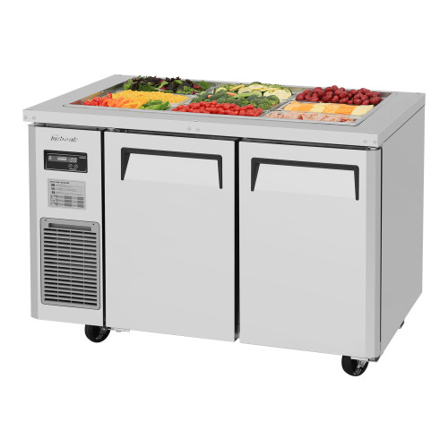 Turbo Air JBT-48-N J Series Buffet Display Table, Side Mount, 2 Solid Doors