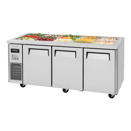 Turbo Air JBT-72-N J Series Buffet Display Table, Side Mount, 3 Solid Doors