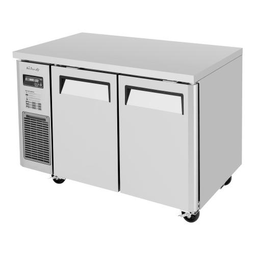 Turbo Air JUR-48-N6 J Series Undercounter Refrigerator, Side Mount, 2 Solid Doors