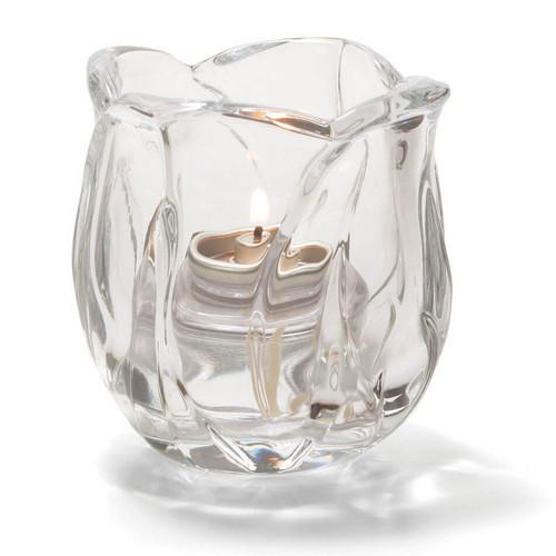 "Hollowick 6697C Votive Holder, Glass, 3-1/4"" H x 3-1/8"" Dia, Crystal"